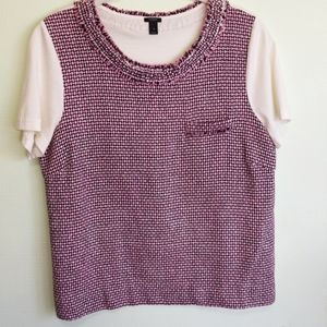 Pink J. Crew Tweed T-shirt Size Small